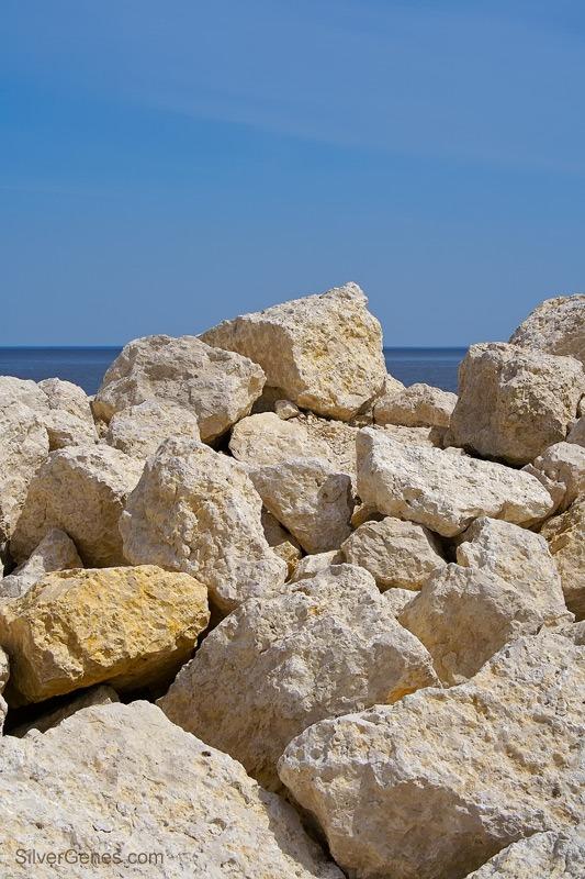 Breakwater Rocks at Gimli MB