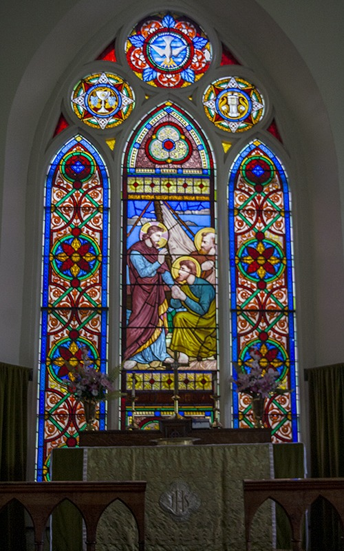 Window in St. Andrew's Anglican Church - St. Andrew's MB