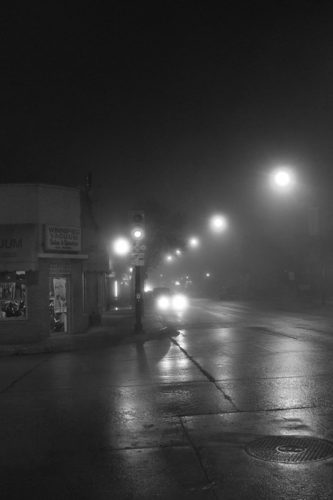 Ice Fog on Corydon, Winnipeg MB